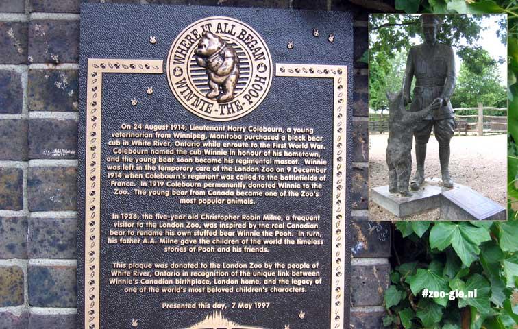 2005 Beer Winnie bewoonde 1914-34 de Mapping Terraces; beeld Lt Harry Colebourn (1995)