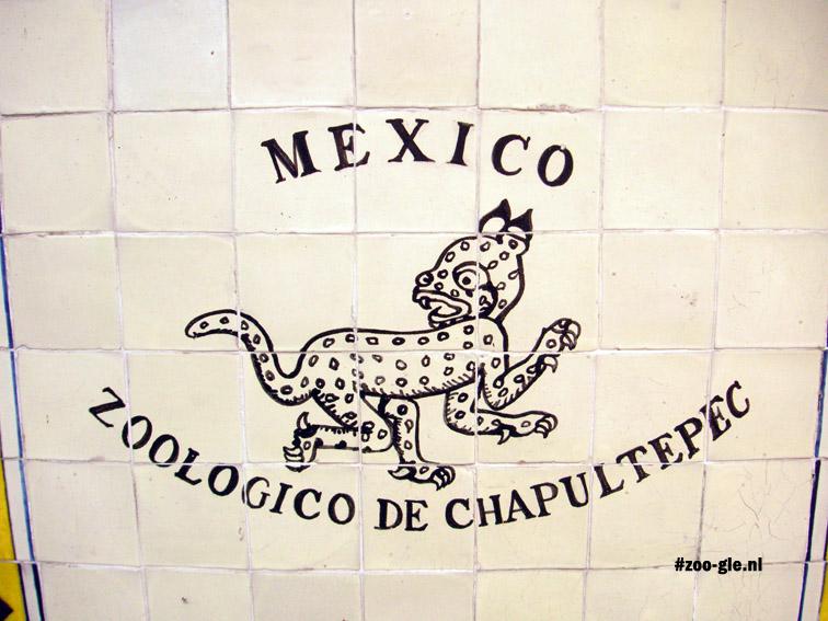2005 Tegelwandje Mexico Zoologico de Chapultepec