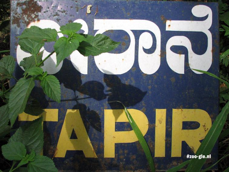 2008 Met een eigen tapirbordje