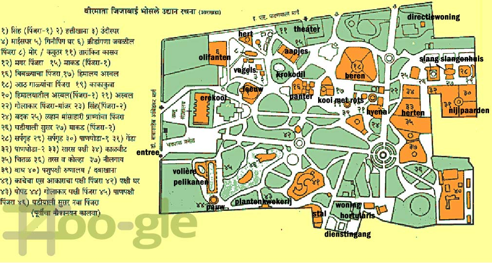 Zoo map Mumbai 2008