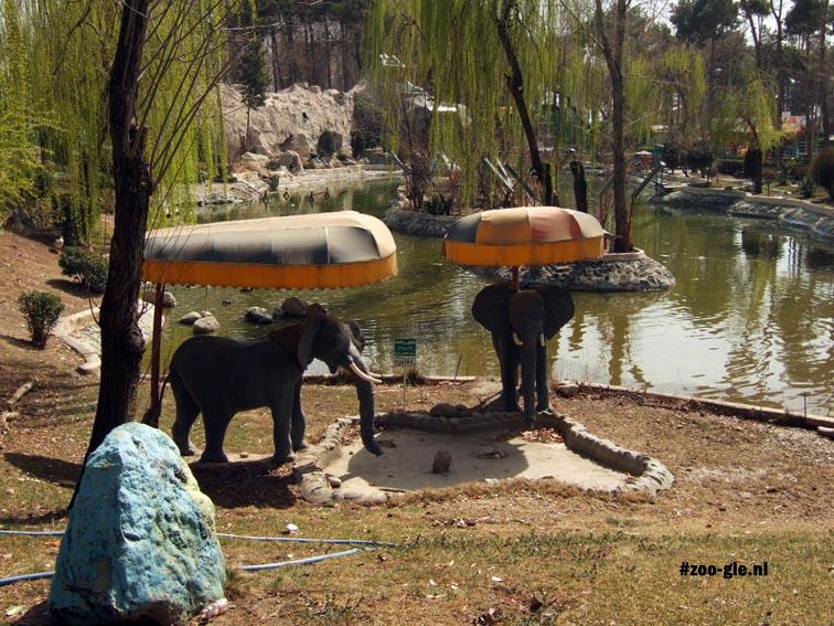 2009 Olifanten onder een olifantenparasol