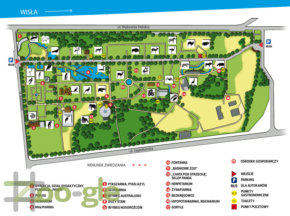 Zoo map Warsaw 2016