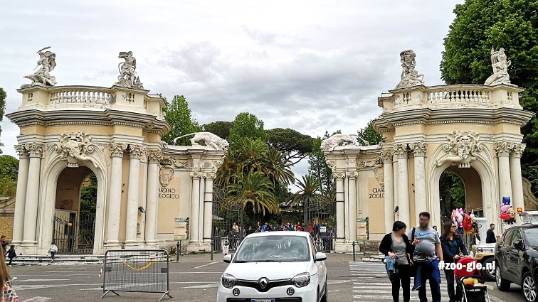 #1 May 2019 Entrance Bioparco di Roma in park Villa Borghese