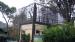 Papegaaienkooi met een gebouwtje erin