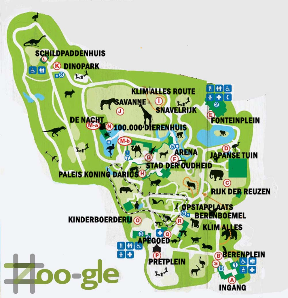 Zoo map animal park Amersfoort 2014