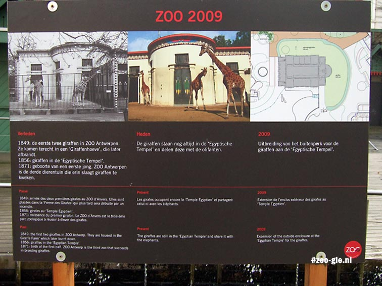 2009 Uitbreiding giraffenperk Egyptische tempel
