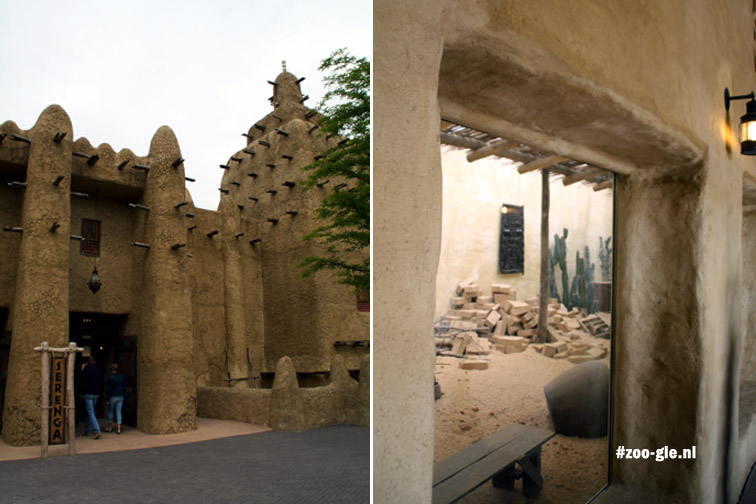 2016 Mali mud-covered mosque at the entrance of Serenga