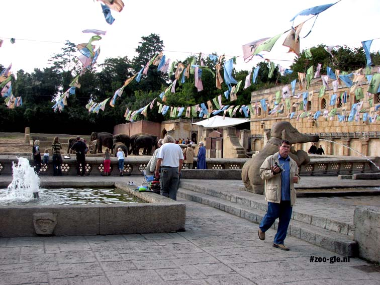 2007 Tibetan prayer flags are hanging over the main square