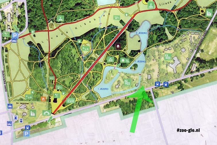 2010 Zoo Zagreb aan zuidkant park Maksimir ligt op 2 eilandjes en een het vasteland