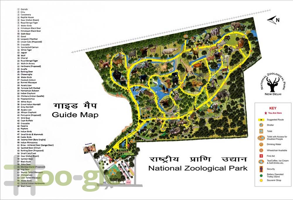 Zoo map New Delhi 2016