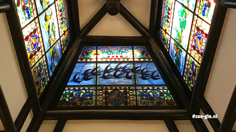 2019 Australia House: stained glass skylights with Hungarian and Australian birds