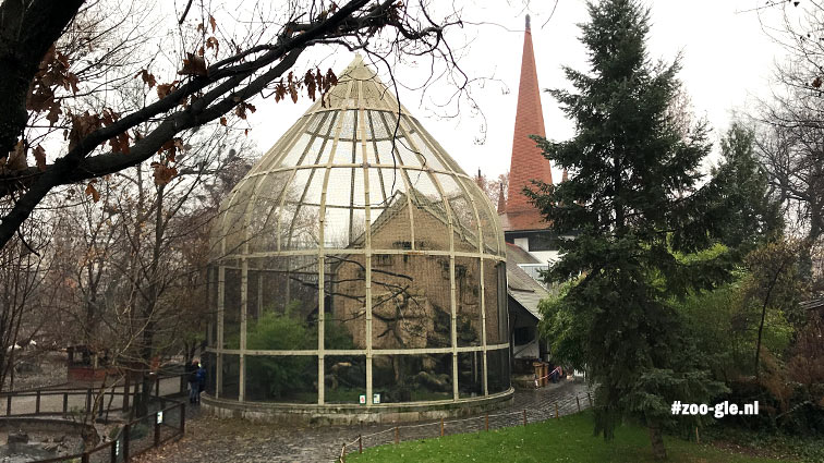 2019 Aviary and in the background the church tower of the Kós and Zrumeczky Birdhouse