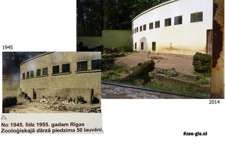 2014 Leeuwenverblijf 1945 en 2014