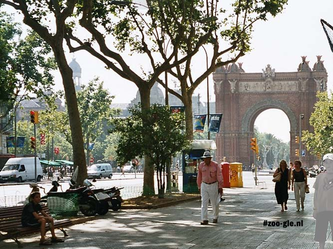 2002 The Arc de Triomf nearby the zoo served as the 1888 World Fair's access gate