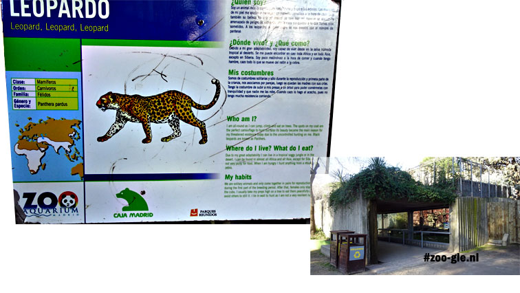 2016 Leopard enclosure, information panel