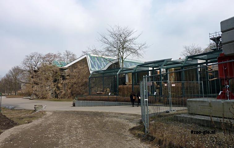 2013 Row of outdoor big cat enclosures