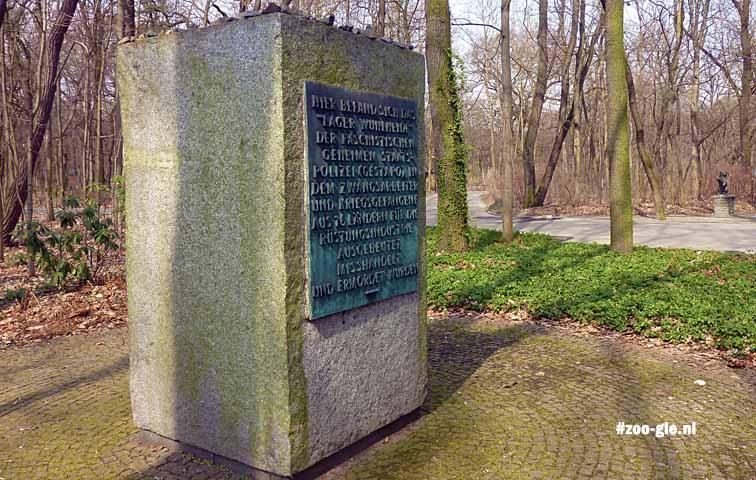 2013 Granite stone in memory of the people in camp Wuhlheide