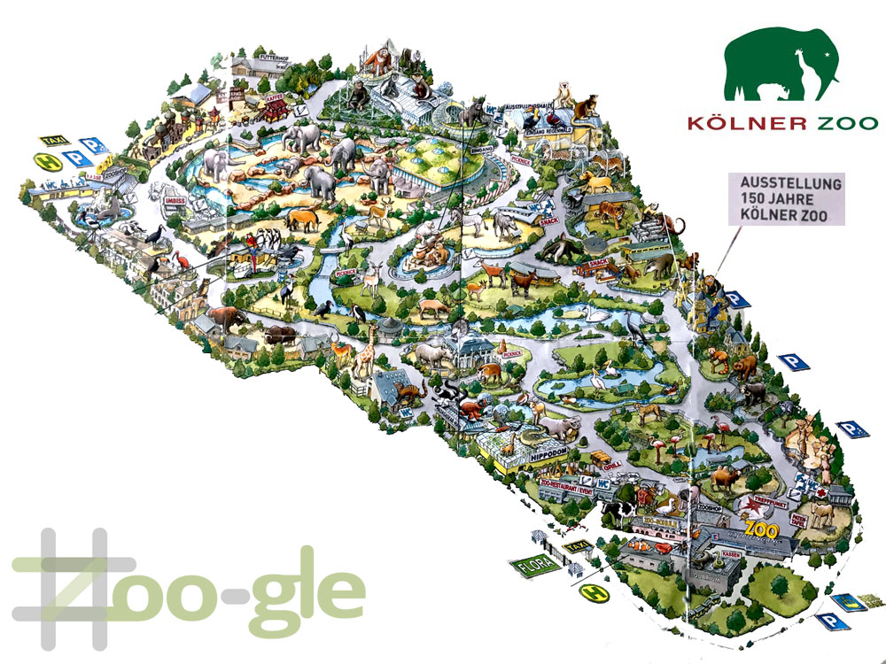 Zoo map Cologne 2017