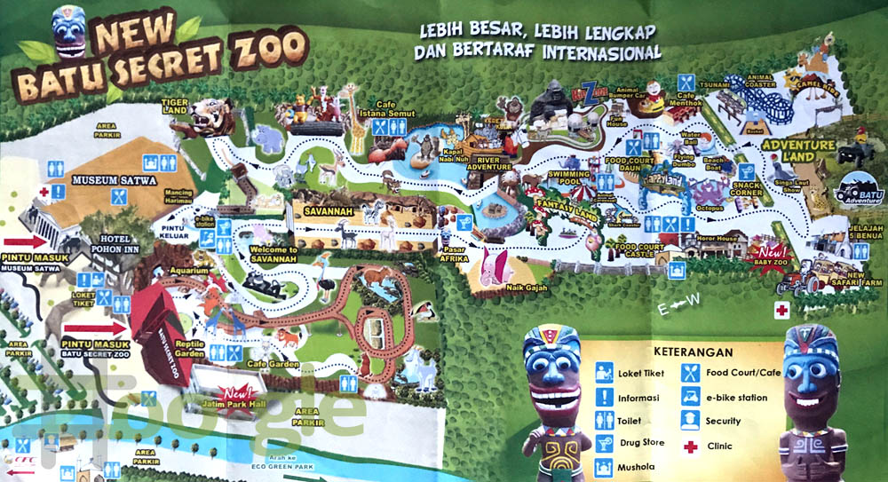 Plattegrond Batu Secret Zoo 2017