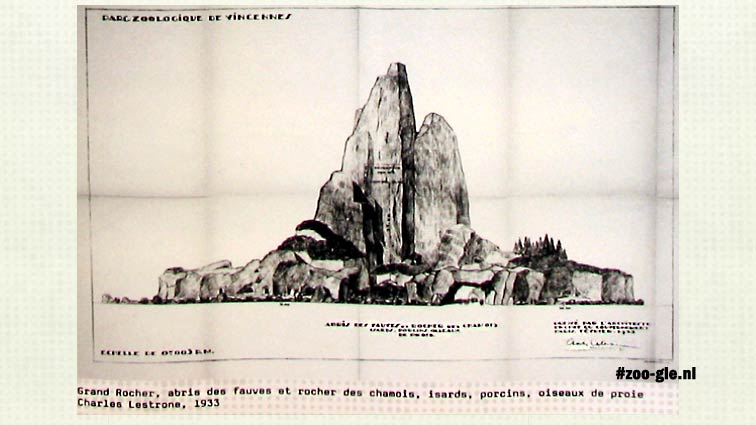 Animal enclosures great rock by Charles Lestrosne 1933