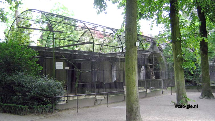 2005 Raptor aviary 1855-56, dismantled in 2013