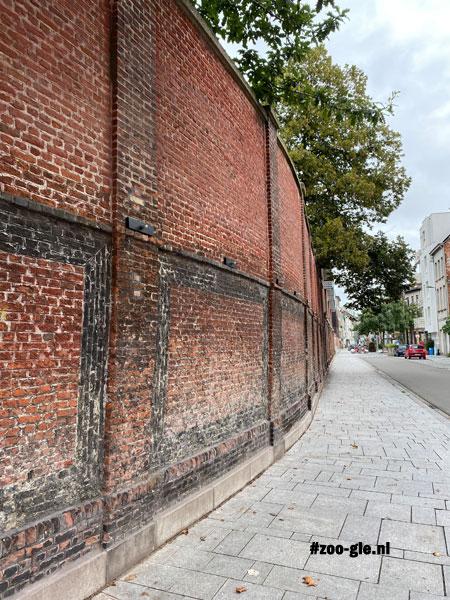 2021 Bakstenen muur om de zoo met moderne en etnische patronen